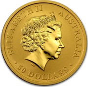 Australia 50 Dollars The Kangaroo 2015 ELIZABETH II AUSTRALIA 50 DOLLARS IRB coin obverse