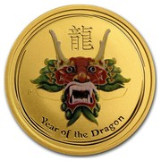 Australia 50 Dollars Year of the Dragon (Colorized) 2012 YEAR OF THE DRAGON P coin reverse