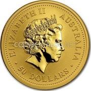 Australia 50 Dollars Year of the Monkey (Colorized) 2004 KM# 671a ELIZABETH II AUSTRALIA 50 DOLLARS IRB coin obverse