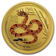Australia 50 Dollars Year of the Snake (Orange) 2013 YEAR OF THE SNAKE P coin reverse