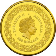 Australia 500 Dollars Australian Fabulous Four 2016 ∙ ELIZABETH II ∙ AUSTRALIA ∙ IRB 500 DOLLARS coin obverse