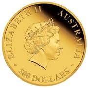 Australia 500 Dollars Australian Kangaroo 2017 ELIZABETH II AUSTRALIA 500 DOLLARS IRB coin obverse