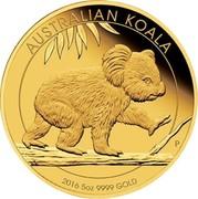Australia 500 Dollars Australian Koala 2016 AUSTRALIAN KOALA 2016 5 OZ 9999 GOLD P IJ coin reverse