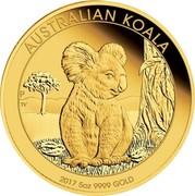 Australia 500 Dollars Australian Koala 2017 AUSTRALIAN KOALA 2017 5 OZ 9999 GOLD P TV coin reverse