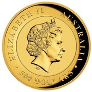 Australia 500 Dollars Kimberley Sunrise 2016 ELIZABETH II AUSTRALIA 500 DOLLARS IRB coin obverse