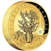 Australia 500 Dollars Kimberley Sunrise 2016 KIMBERLY SUNRISE 2016 2 OZ 9999 GOLD P TV coin reverse
