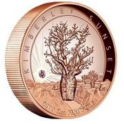 Australia 500 Dollars Kimberley Sunset 2015 KM# 2205 KIMBERLEY SUNSET P 2015 2 OZ FINE GOLD TV coin reverse