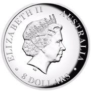 Australia 8 Dollars Australian Koala 2015 ELIZABETH II AUSTRALIA 8 DOLLARS IRB coin obverse