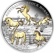 Australia 8 Dollars Australian Stock Horses (Gilded) 2017 AUSTRALIAN STOCK HORSE P5 coin reverse