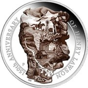 Australia 8 Dollars Henry Lawson 150th Anniversary 2017 150TH ANNIVERSARY OF HENRY LAWSON P NM coin reverse
