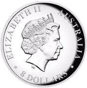 Australia 8 Dollars Koala 2016 ELIZABETH II AUSTRALIA 8 DOLLARS IRB coin obverse