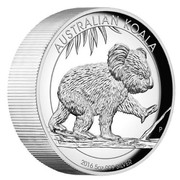 Australia 8 Dollars Koala 2016 AUSTRALIAN KOALA 2016 5 OZ 999 SILVER P IJ coin reverse