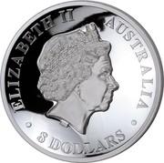 Australia 8 Dollars Kookaburra 2016 ELIZABETH II AUSTRALIA 8 DOLLARS IRB coin obverse
