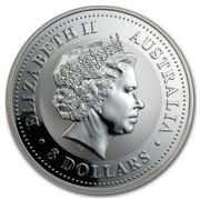 Australia 8 Dollars Lunar Monkey on a branch 2004 ELIZABETH II AUSTRALIA 8 DOLLARS IRB coin obverse