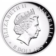 Australia 8 Dollars Resting Kangaroo 2016 ELIZABETH II AUSTRALIA 8 DOLLARS IRB coin obverse