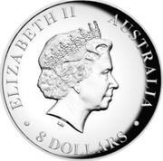 Australia 8 Dollars Resting Koala 2017 ELIZABETH II AUSTRALIA 8 DOLLARS IRB coin obverse