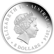 Australia 8 Dollars The Land Down Under - Great Barrier Reef 2014 KM# 2179 ELIZABETH II AUSTRALIA 2014 8 DOLLARS IRB coin obverse