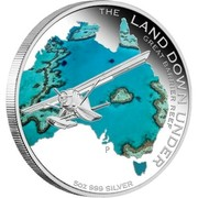 Australia 8 Dollars The Land Down Under - Great Barrier Reef 2014 KM# 2179 THE LAND DOWN UNDER GREAT BARRIER REEF P 5 OZ 999 SILVER coin reverse