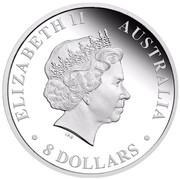 Australia 8 Dollars Two Koalas 2011 ELIZABETH II AUSTRALIA 8 DOLLARS IRB coin obverse