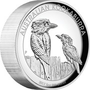 Australia 8 Dollars Two Kookaburras 2017 AUSTRALIAN KOOKABURRA 2017 5 OZ 999 SILVER P NM coin reverse