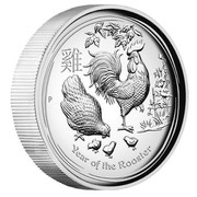 Australia 8 Dollars Year of the Rooster 2017 YEAR OF THE ROOSTER P coin reverse