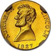 USA A Token Abraham Lincoln 1927 ABRAHAM LINCOLN 1927 coin obverse
