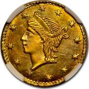 USA ¼ Dollar Liberty Round 1854 - coin obverse