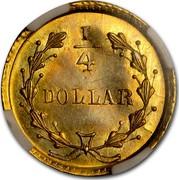 USA ¼ Dollar Liberty Round 1854 ¼ DOLLAR coin reverse
