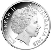 Australia Five Dollars Gallipoli Landing 2015 KM# 2197 ELIZABETH II AUSTRALIA 2015 IRB coin obverse