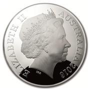 Australia Five Dollars Northern Sky - Cassiopeia 2016 ELIZABETH II AUSTRALIA 2016 IRB coin obverse