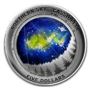 Australia Five Dollars Northern Sky - Cassiopeia 2016 NORTH SKY - CASSIOPEIA FIVE DOLLARS coin reverse
