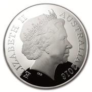 Australia Five Dollars Northern Sky - Cygnus 2016 ELIZABETH II AUSTRALIA 2016 IRB coin obverse