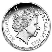 Australia Five Dollars Saltwater Crocodile - Agro 2015 ELIZABETH II AUSTRALIA 2015 IRB coin obverse
