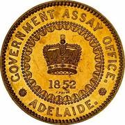 Australia Five Pounds South Australia Adelaide 1852 KM# Pn1 GOVERMENT ASSAY OFFICE. ADELAIDE. 1852 J. PAYNE coin obverse