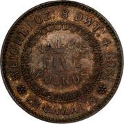Australia Five Pounds South Australia Adelaide 1852 KM# Pn1a WEIGHT. 1 OZ: 8 DWT: 4 GRS: VALUE FIVE POUNDS 22 CARATS. coin reverse
