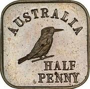 Australia Half Penny Kookaburra Pattern - Type 1 1920 Pattern KM# Pn13 AUSTRALIA HALF PENNY coin reverse