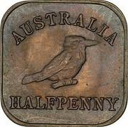 Australia Halfpenny Kookaburra Pattern - Type 2 1921 Pattern KM# Pn19 AUSTRALIA HALFPENNY coin reverse