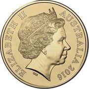 Australia One Dollar 100 Years of ANZAC 2016 ELIZABETH II AUSTRALIA 2014 coin obverse