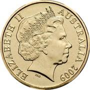 Australia One Dollar 200 Years of Postal Services in Australia 2009  ELIZABETH II AUSTRALIA 2009 coin obverse