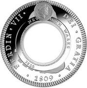 Australia One Dollar 200th Anniversary of the Australian Holey Dollar and Dump 2013 ELIZABETH II * AUSTRALIA 2013 FERDIN * VII * DEI * GRATIA NEW SOUTH WALES 1813 1809 coin obverse