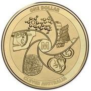 Australia One Dollar Clever Australia 2014  ONE DOLLAR CLEVER AUSTRALIA M coin reverse