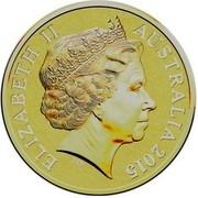 Australia One Dollar Moments that matter 2015 ELIZABETH II AUSTRALIA 2015 IRB coin obverse