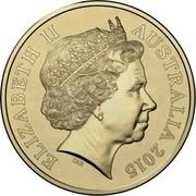 Australia One Dollar National Rugby League - Moments that matter (Aluminum-Bronze) 2015 ELIZABETH II AUSTRALIA 2015 IRB coin obverse