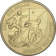 Australia One Dollar National Rugby League - Moments that matter (Aluminum-Bronze) 2015 NRL ONE DOLLAR S MOMENTS THAT MATTER coin reverse