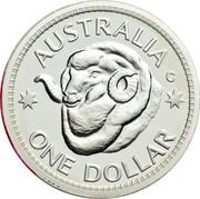 Australia One Dollar RAM's Head 2011 KM# 1504a AUSTRALIA C ONE DOLLAR coin reverse