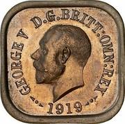 Australia One Penny 1 Penny - George V (Kookaburra Pattern - Type 5) 1919 KM# Pn10 GEORGE V D.G.BRITT.OMN:REX 1919 coin obverse