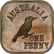 Australia One Penny 1 Penny - George V (Kookaburra Pattern - Type 5) 1919 KM# Pn10 AUSTRALIA ONE PENNY coin reverse