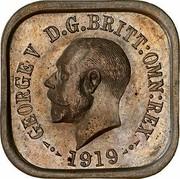 Australia One Penny George V (Kookaburra Pattern - Type 3) 1919 Pattern KM# Pn8 GEORGE V D.G.BRITT.OMN:REX 1919 coin obverse