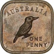Australia One Penny George V (Kookaburra Pattern - Type 3) 1919 Pattern KM# Pn8 AUSTRALIA ONE PENNY coin reverse
