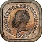 Australia One Penny George V (Kookaburra Pattern - Type 7) 1920 Pattern KM# Pn14 GEORGIVS V D.G.BRITT:OMN:REX 1920 coin obverse